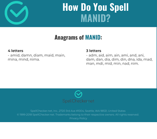 Correct spelling for Manid