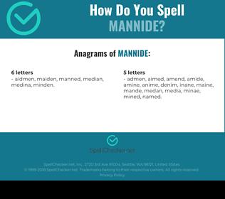 Correct spelling for Mannide