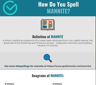 Correct spelling for Mannite