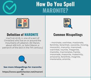 Correct spelling for Maronite