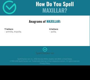Correct spelling for Maxillar