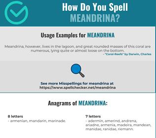 Correct spelling for Meandrina