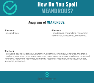 Correct spelling for Meandrous