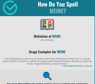 Correct spelling for Meine