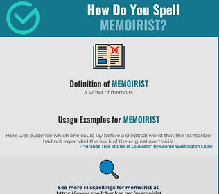 Correct spelling for Memoirist