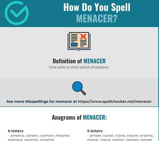 Correct spelling for Menacer