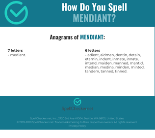 Correct spelling for Mendiant