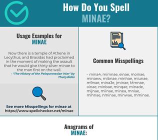 Correct spelling for Minae