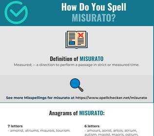 Correct spelling for Misurato