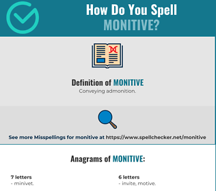 Correct spelling for Monitive