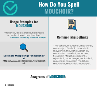 Correct spelling for Mouchoir