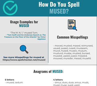 Correct spelling for Mused