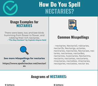 Correct spelling for Nectaries