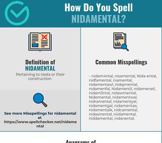 Correct spelling for Nidamental