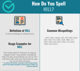 Correct spelling for Nill