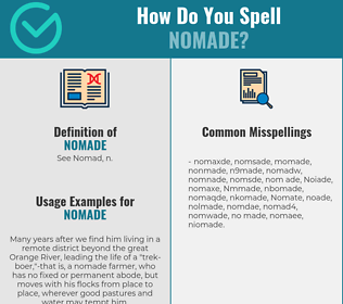 Correct spelling for Nomade