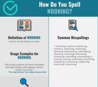 Correct spelling for Nooning