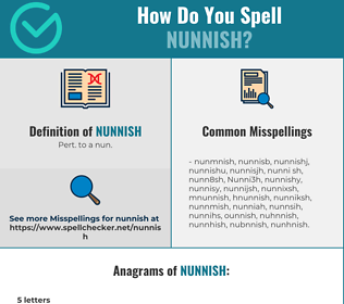 Correct spelling for Nunnish