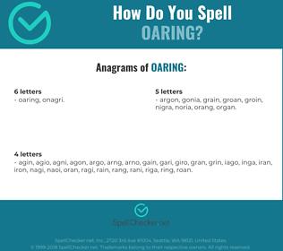 Correct spelling for Oaring