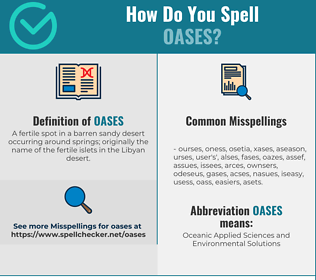 Correct spelling for Oases