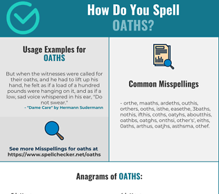 Correct spelling for Oaths