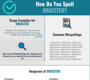 Correct spelling for Objected