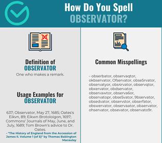 Correct spelling for Observator