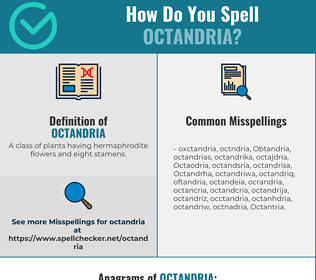 Correct spelling for Octandria