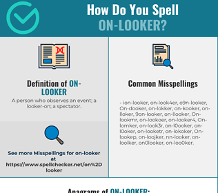 Correct spelling for On-looker