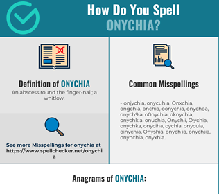 Correct spelling for Onychia
