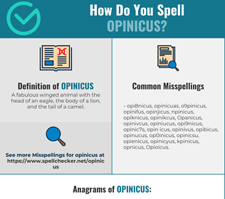 Correct spelling for Opinicus
