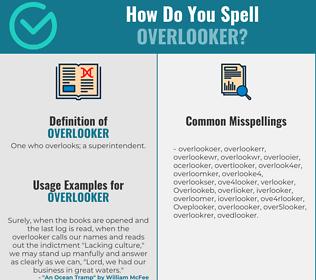 Correct spelling for Overlooker