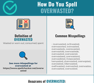 Correct spelling for Overwasted