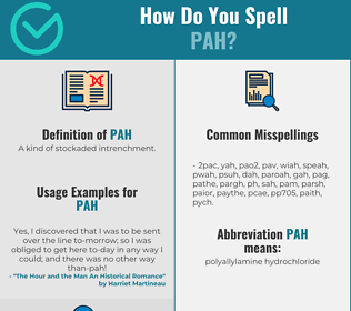 Correct spelling for Pah