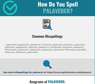 Correct spelling for Palaverer
