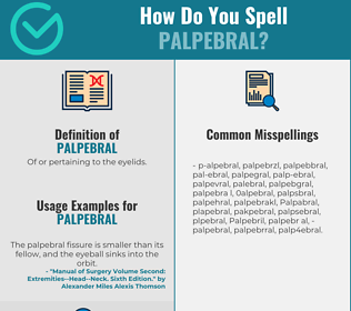 Correct spelling for Palpebral