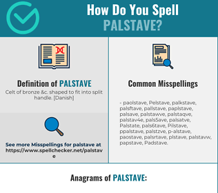 Correct spelling for Palstave