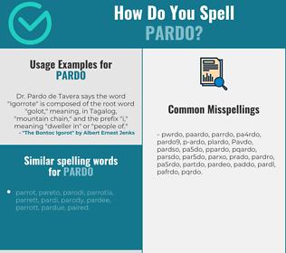 Correct spelling for Pardo