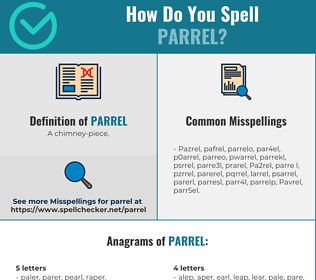 Correct spelling for Parrel