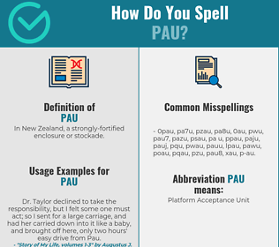 Correct spelling for Pau