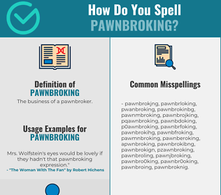 Correct spelling for Pawnbroking