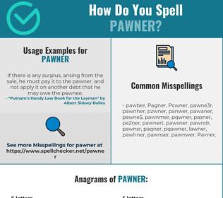 Correct spelling for Pawner