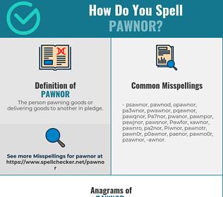 Correct spelling for Pawnor