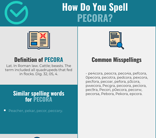 Correct spelling for Pecora