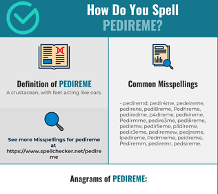 Correct spelling for Pedireme