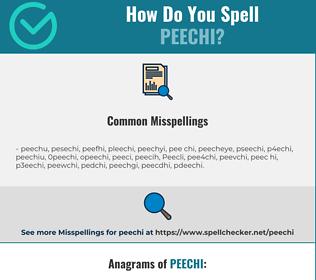 Correct spelling for Peechi