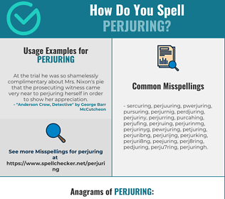 Correct spelling for Perjuring
