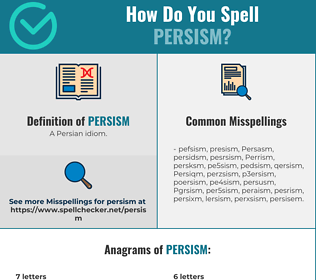 Correct spelling for Persism
