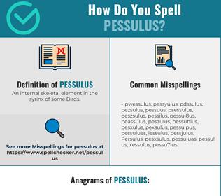 Correct spelling for Pessulus