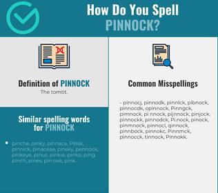 Correct spelling for Pinnock